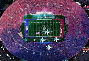 Aerial view of the 2011 Rose Bowl Game | Photo courtesy of Rose Bowl Stadium, Facebook